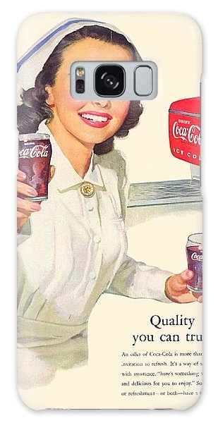 1952 - Coca-cola Advertisement - Color Galaxy Case