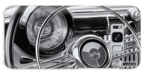 1953 Buick Super Dashboard And Steering Wheel Bw Galaxy Case by Jerry Fornarotto