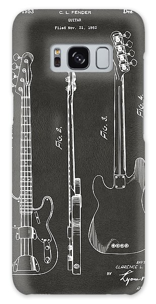 Guitar Galaxy Case - 1953 Fender Bass Guitar Patent Artwork - Gray by Nikki Marie Smith