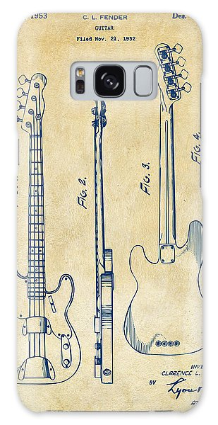 1953 Fender Bass Guitar Patent Artwork - Vintage Galaxy Case