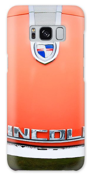 Galaxy Case featuring the photograph 1955 Lincoln Indianapolis Boano Coupe Emblem by Jill Reger