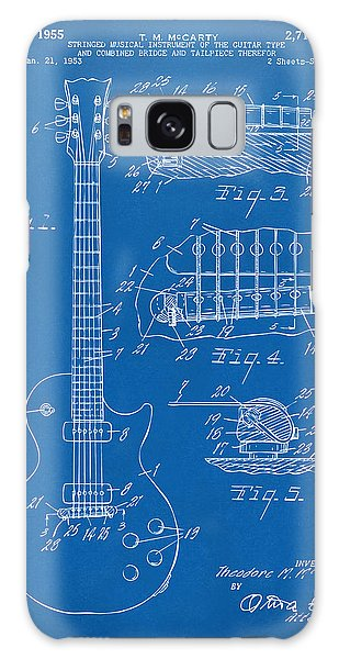 1955 Mccarty Gibson Les Paul Guitar Patent Artwork Blueprint Galaxy Case