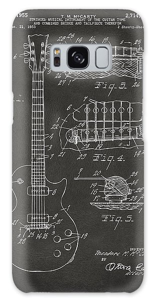 1955 Mccarty Gibson Les Paul Guitar Patent Artwork - Gray Galaxy Case