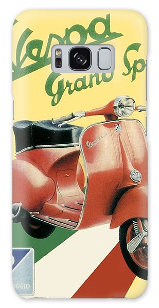 1955 - Vespa Grand Sport Motor Scooter Advertisement - Color Galaxy Case