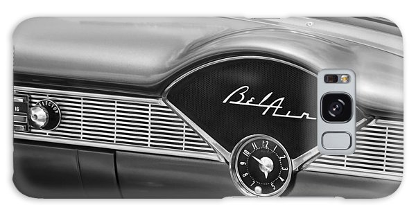 Dual Exhaust Galaxy Case - 1956 Chevrolet Bel Air Convertible Painted Bw by Rich Franco