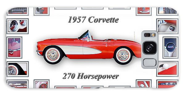 1957 Chevrolet Corvette Art Galaxy Case
