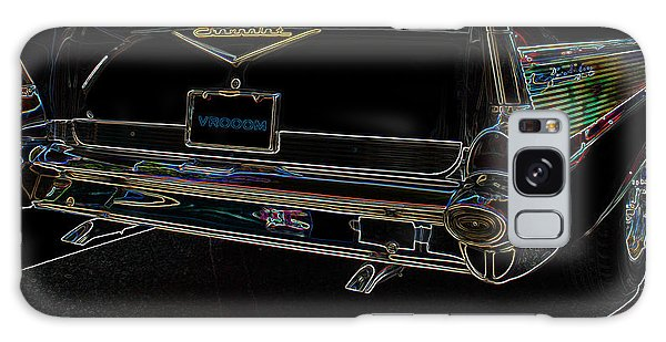 1957 Chevrolet Rear View Art Black_varooom Tag Galaxy Case