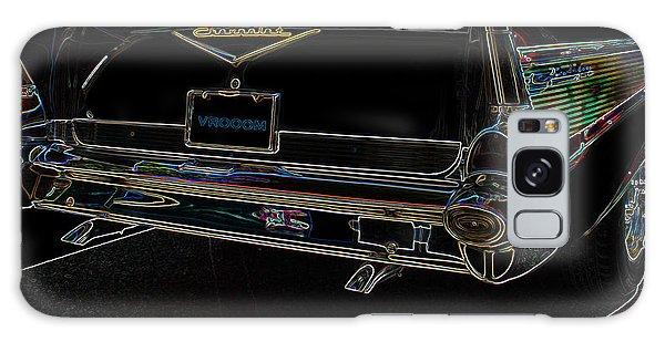 1957 Chevrolet Rear View Art Black_varooom Tag Galaxy Case