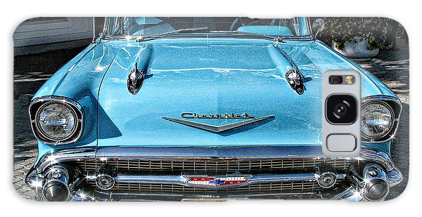 1957 Chevy Bel Air In Turquoise Galaxy Case by Samuel Sheats