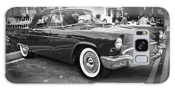 Dual Exhaust Galaxy Case - 1957 Ford Thunderbird Convertible Bw by Rich Franco