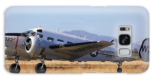 Galaxy Case featuring the photograph 1957 Twin Beech E185 Take Off N5867 by John King