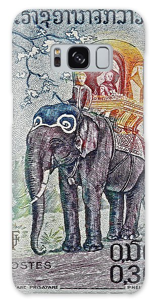 1958 Laos Elephant Stamp Galaxy Case