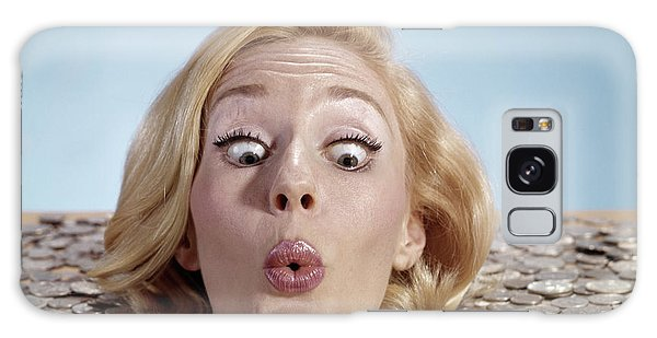 Drown Galaxy Case - 1960s Blond Woman Funny Facial by Vintage Images