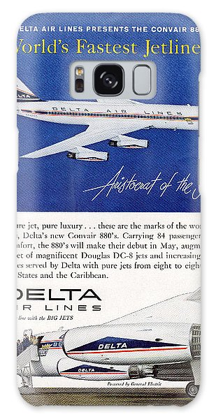 1960s Delta Convair 880 Ad Galaxy Case