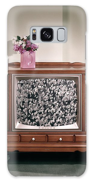 Vase Of Flowers Galaxy Case - 1960s Large Console Television by Vintage Images