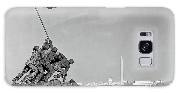 Capitol Building Galaxy S8 Case - 1960s Marine Corps Monument by Vintage Images