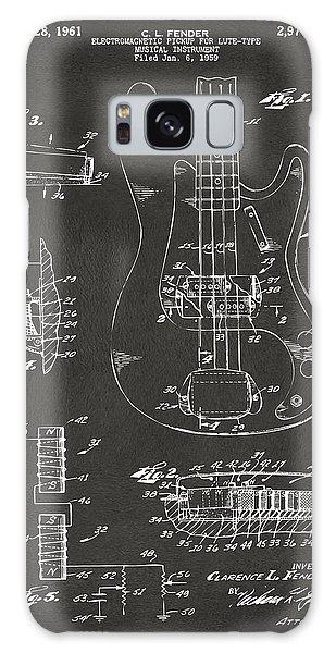 1961 Fender Guitar Patent Artwork - Gray Galaxy Case by Nikki Marie Smith