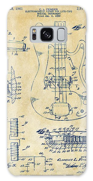 1961 Fender Guitar Patent Artwork - Vintage Galaxy Case