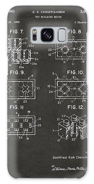 Bricks Galaxy Case - 1961 Lego Brick Patent Art - Gray by Nikki Marie Smith