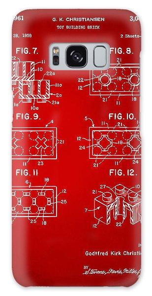 Bricks Galaxy Case - 1961 Lego Brick Patent Art Red by Nikki Marie Smith