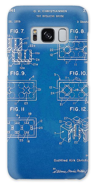 Bricks Galaxy Case - 1961 Lego Brick Patent Artwork - Blueprint by Nikki Marie Smith