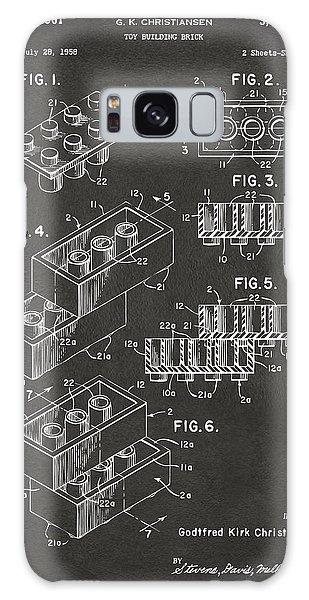Bricks Galaxy Case - 1961 Toy Building Brick Patent Art - Gray by Nikki Marie Smith