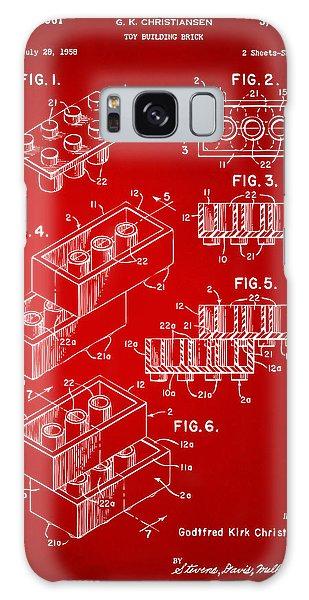 Bricks Galaxy Case - 1961 Toy Building Brick Patent Art Red by Nikki Marie Smith