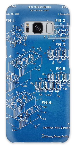 Bricks Galaxy Case - 1961 Toy Building Brick Patent Artwork - Blueprint by Nikki Marie Smith