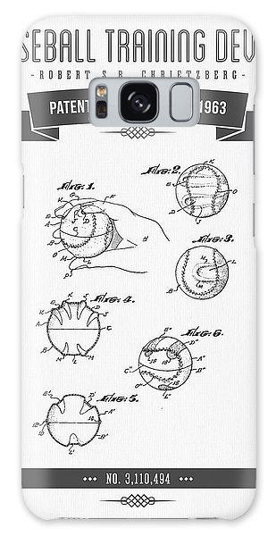 Softball Galaxy Case - 1963 Baseball Training Device Patent Drawing by Aged Pixel