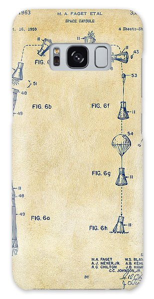 1963 Space Capsule Patent Vintage Galaxy Case by Nikki Marie Smith