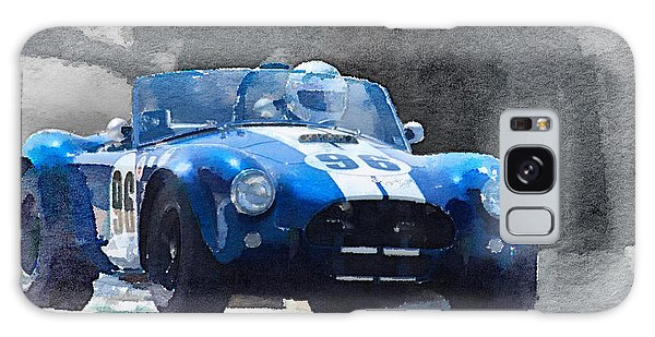 Cobra Galaxy Case - 1964 Ac Cobra Shelby Racing Watercolor by Naxart Studio