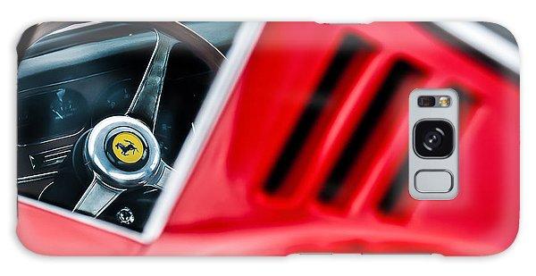 Galaxy Case featuring the photograph 1966 Ferrari 275 Gtb Steering Wheel Emblem -0563c by Jill Reger