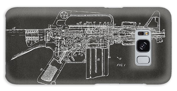 Weapons Galaxy Case - 1966 M-16 Gun Patent Gray by Nikki Marie Smith