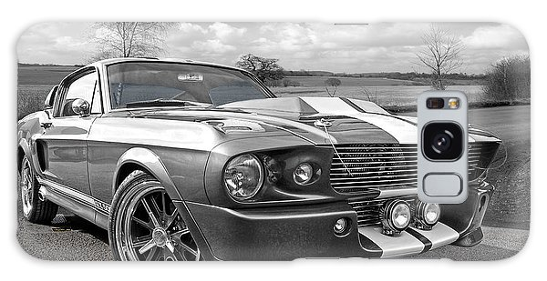 1967 Eleanor Mustang In Black And White Galaxy Case