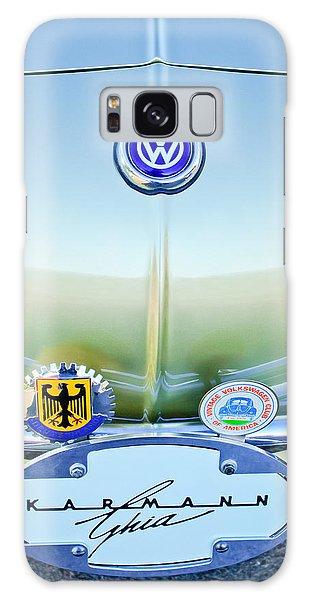 Volkswagen Galaxy Case - 1967 Volkswagen Vw Karmann Ghia Hood Emblem by Jill Reger