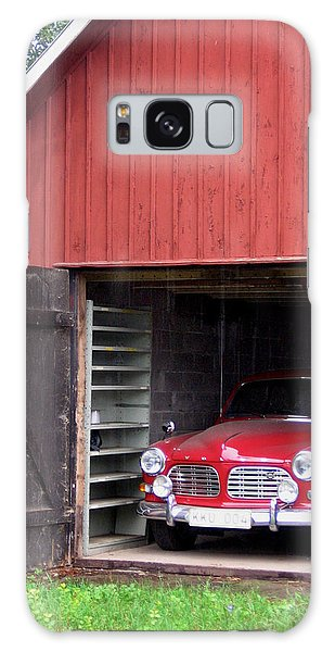 1967 Volvo In Red Sweden Barn Galaxy Case by Mary Lee Dereske