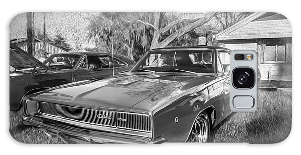 1968 Dodge Charger The Bullit Car Bw Galaxy Case