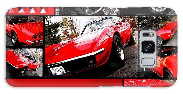 1969 Chevrolet Corvette Stingray Pop Art Collage 1 Galaxy Case