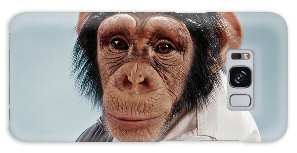 1970s Close-up Face Chimpanzee Looking Galaxy Case