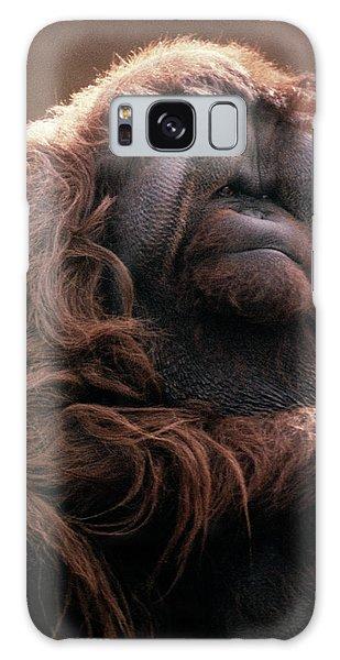 Orangutan Galaxy Case - 1970s Mature Adult Orangutan Pongo by Vintage Images