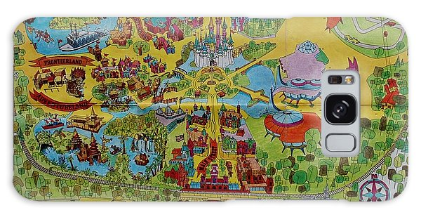 1971 Original Map Of The Magic Kingdom Galaxy Case
