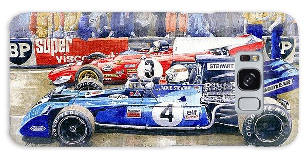 1972 Galaxy Case - 1972 French Gp Jackie Stewart Tyrrell 003  Jacky Ickx Ferrari 312b2  by Yuriy Shevchuk