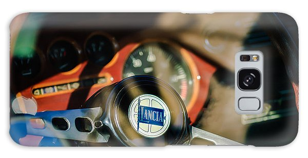 1972 Galaxy Case - 1972 Lancia Fulvia Steering Wheel Emblem -0435c by Jill Reger
