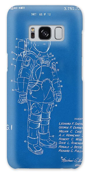 1973 Space Suit Patent Inventors Artwork - Blueprint Galaxy S8 Case