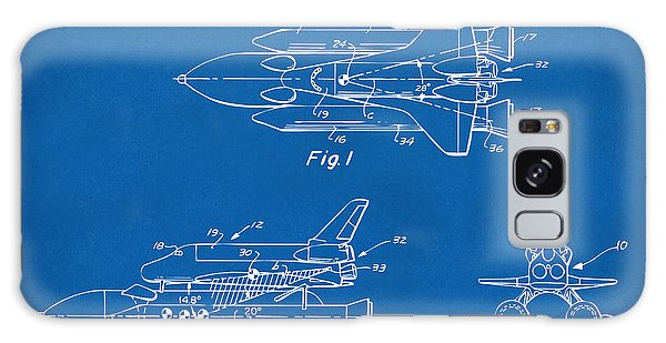 1975 Space Shuttle Patent - Blueprint Galaxy S8 Case