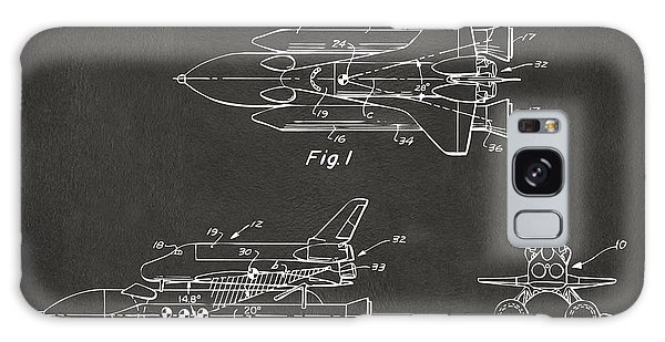 1975 Space Shuttle Patent - Gray Galaxy Case by Nikki Marie Smith