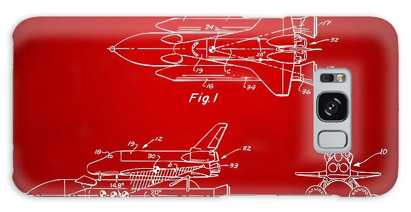 1975 Space Shuttle Patent - Red Galaxy S8 Case