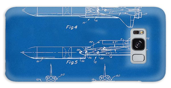 1975 Space Vehicle Patent - Blueprint Galaxy Case by Nikki Marie Smith