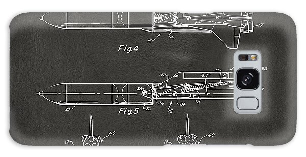 1975 Space Vehicle Patent - Gray Galaxy Case by Nikki Marie Smith
