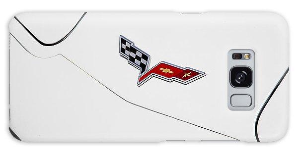 Dual Exhaust Galaxy Case - 1977 Corvette And New Corvette Emblem by Rich Franco